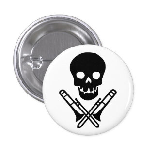 skull and trombones buttons