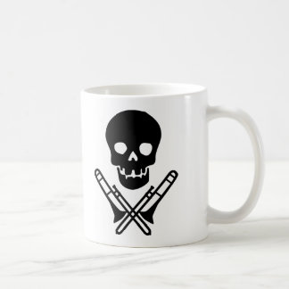 skull and trombones coffee mug