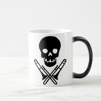 skull and trombones magic mug