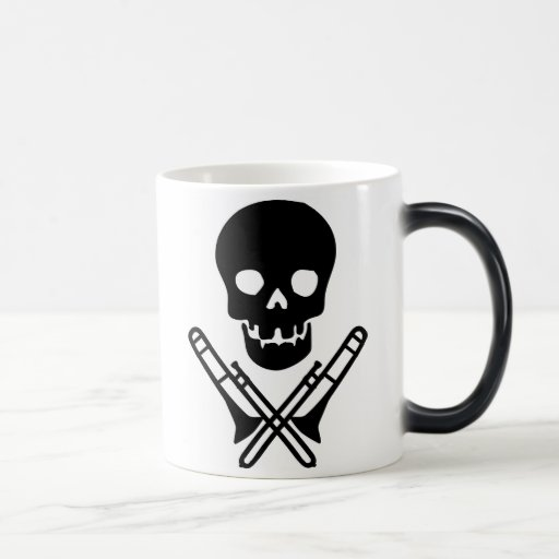 skull and trombones coffee mugs