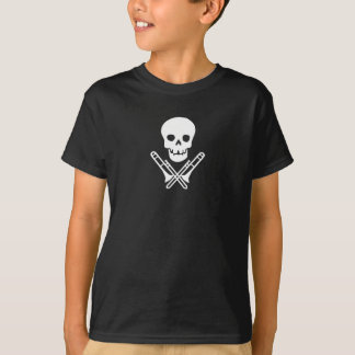 skull and trombones~white T-Shirt