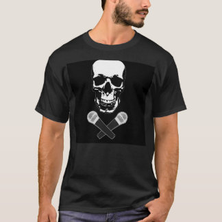 Skull and two mics T-Shirt