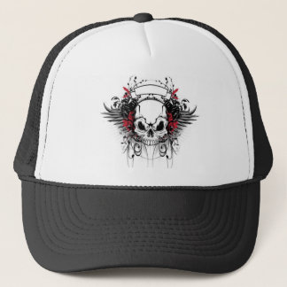 skull-and-wings trucker hat