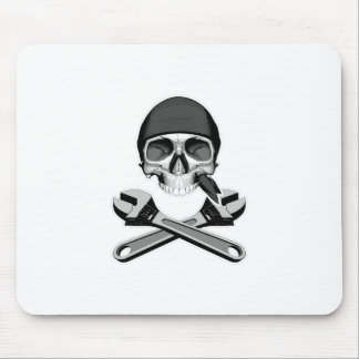 Skull and Wrenches (adjustable) Mouse Pad