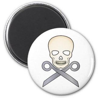 Skull and X-Scissors Magnet