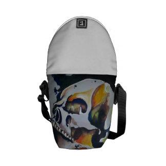 Skull Art Messenger Pack Courier Bag