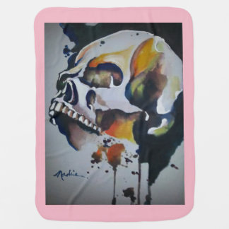 Skull art to decorate your world. baby blanket