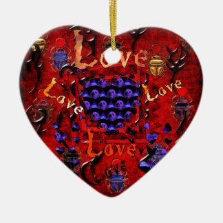Skull Art Valentine Ceramic Heart Decoration
