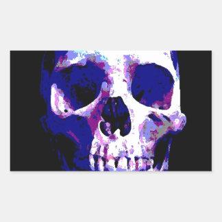 Skull Artwork Rectangular Sticker