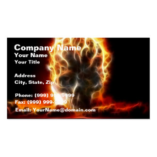 Skull Atomic Bomb Business Cards