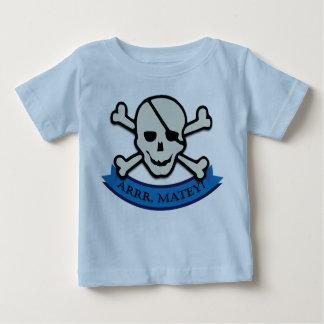 Skull - Baby Blue Fine Jersey T-Shirt