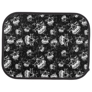 skull background car mat