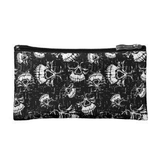 skull background cosmetic bag