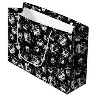 skull background large gift bag