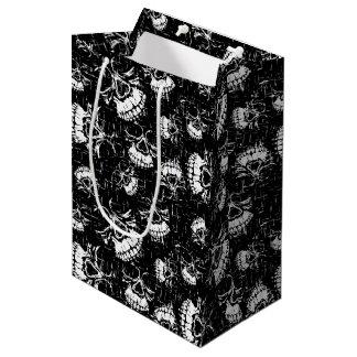 skull background medium gift bag