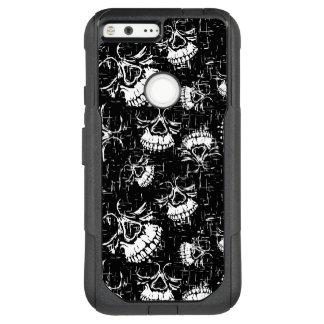 skull background OtterBox commuter google pixel XL case