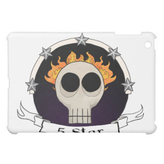 skull-badge purple cover for the iPad mini