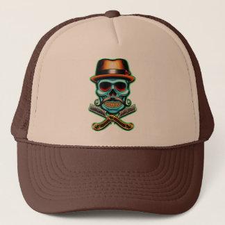 Skull Barber Trucker Hat