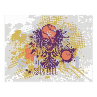 Skull Baseball Tshirts and Gifts Post Card