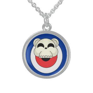 Skull Bear Sterling Silver Necklace
