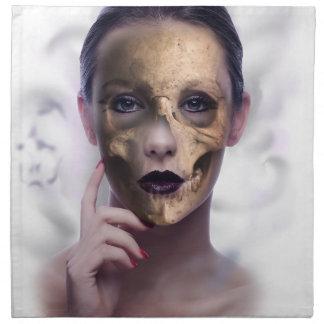 Skull Beauty Model Face Skeleton Napkin