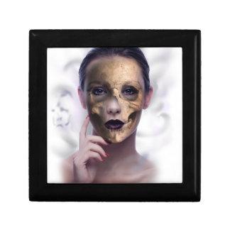 Skull Beauty Model Face Skeleton Small Square Gift Box