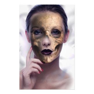 Skull Beauty Model Face Skeleton Stationery Design