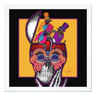 Skull Bird Brain 13 Cm X 13 Cm Square Invitation Card
