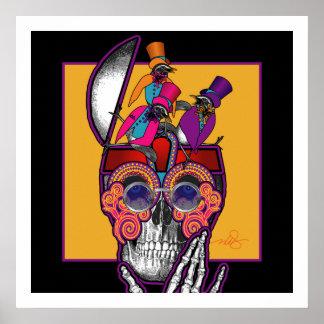 Skull Bird Brain Poster