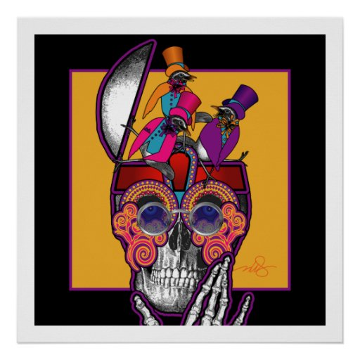 Skull Bird Brain Print
