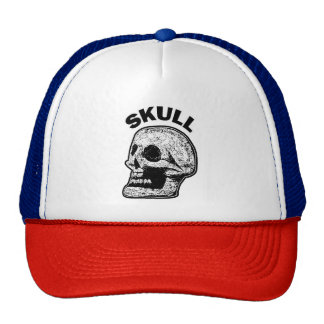 Skull - Black and White Cap