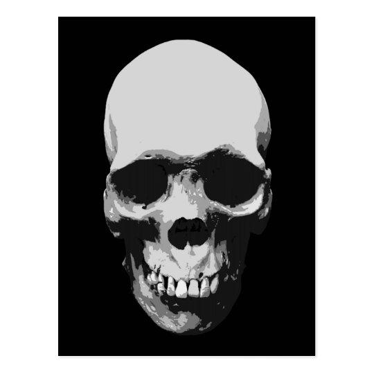 Skull Black & White Pop Art Postcard