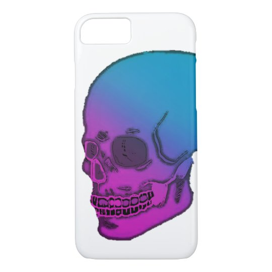 Skull blue and pink neon look! iPhone 8/7