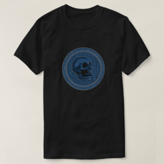 SKULL Blue - Inside Stone Background T-Shirt