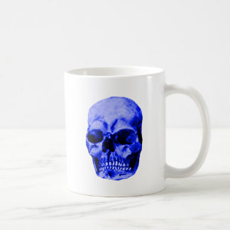 Skull Blue The MUSEUM Zazzle Gifts Basic White Mug