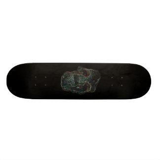 skull board skateboard deck