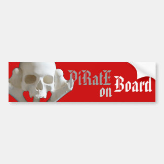Skull & Bone Pirate Skeleton Car Bumper Stickers