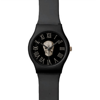 Skull & Bones Clock Face Watch