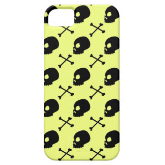 Skull & Bones - Faded Lime Green iPhone 5 Case