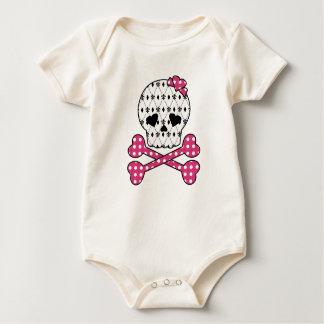 Skull & Bones Fleur-de-lis Pink Polka Dot Bodysuits