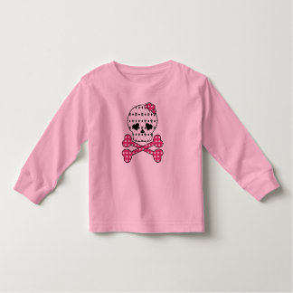 Skull & Bones Fleur-de-lis Pink Polka Dot Shirt