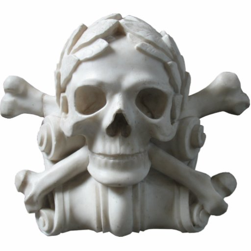Skull & Bones Pirate Skeleton Sculpture Acrylic Cut Out