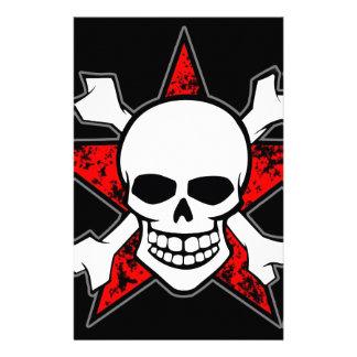 Skull Bones Customized Stationery