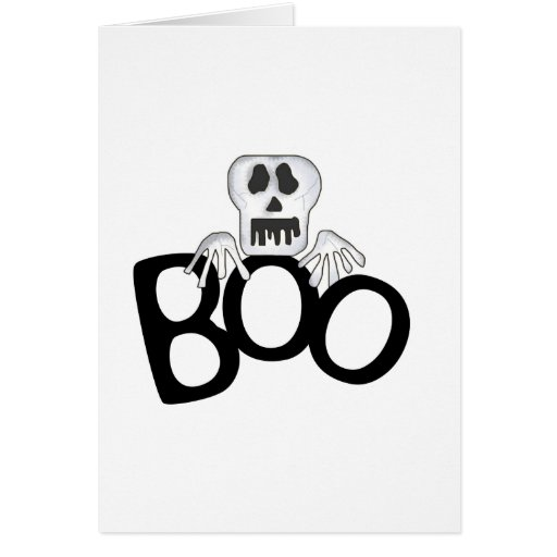 Skull Boo Card