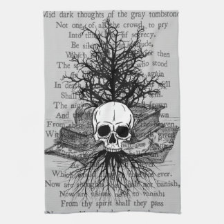 Skull & Books Kitchen Towels