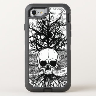 +{ Skull & Books }+ OtterBox Defender iPhone 8/7 Case