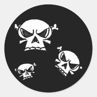 Skull Boys by Justyn Johnson Round Sticker