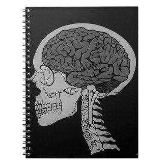 Skull Brain Gothic Skeleton Dark Notebook