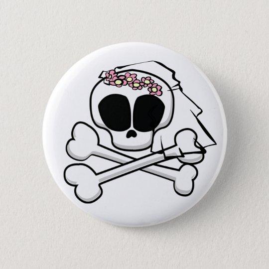 Skull Bride Gifts 6 Cm Round Badge