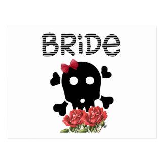 Skull Bride Postcard